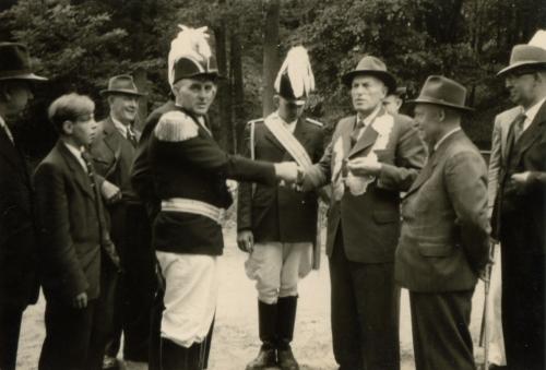 ab 3. von links Josef Böckmann + Theodor Klostermann + Herbert Börnemann + Josef Wauligmann + Anton Volbert + Josef Richter