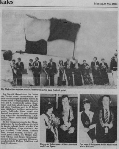 1983 Jubiläum König Felix Baune