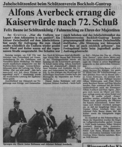 1983 Jubiläum Kaiser Alfons Averbeck